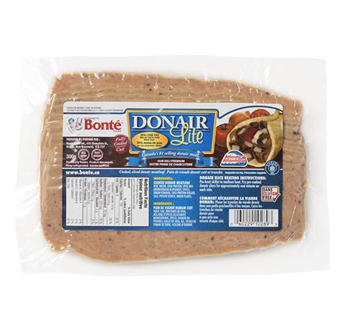 donair lite prepak sliced fixed weight 18x300g