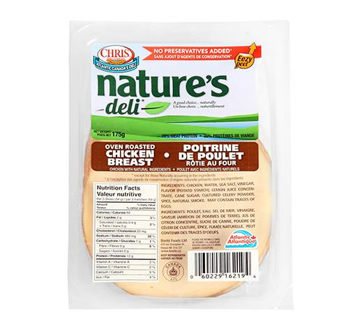 sliced chicken breast 12x175g