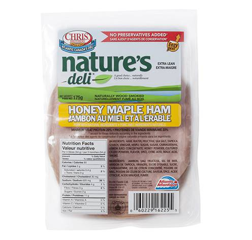 sliced honey maple ham 12x175g