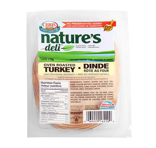 sliced turkey breast 12x175g