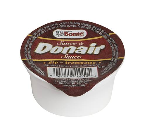 creamy donair sauce portion cup fixed weight 48x56ml